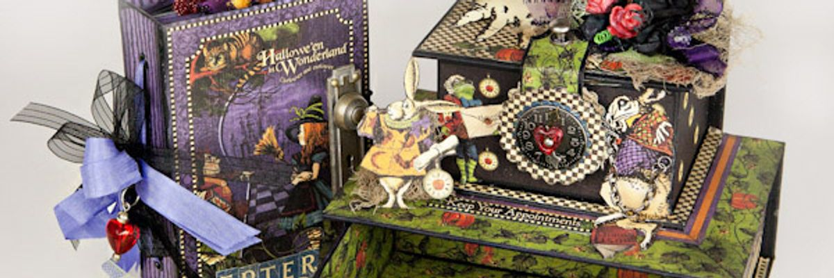 How to create a graphic 45 halloween trinket box