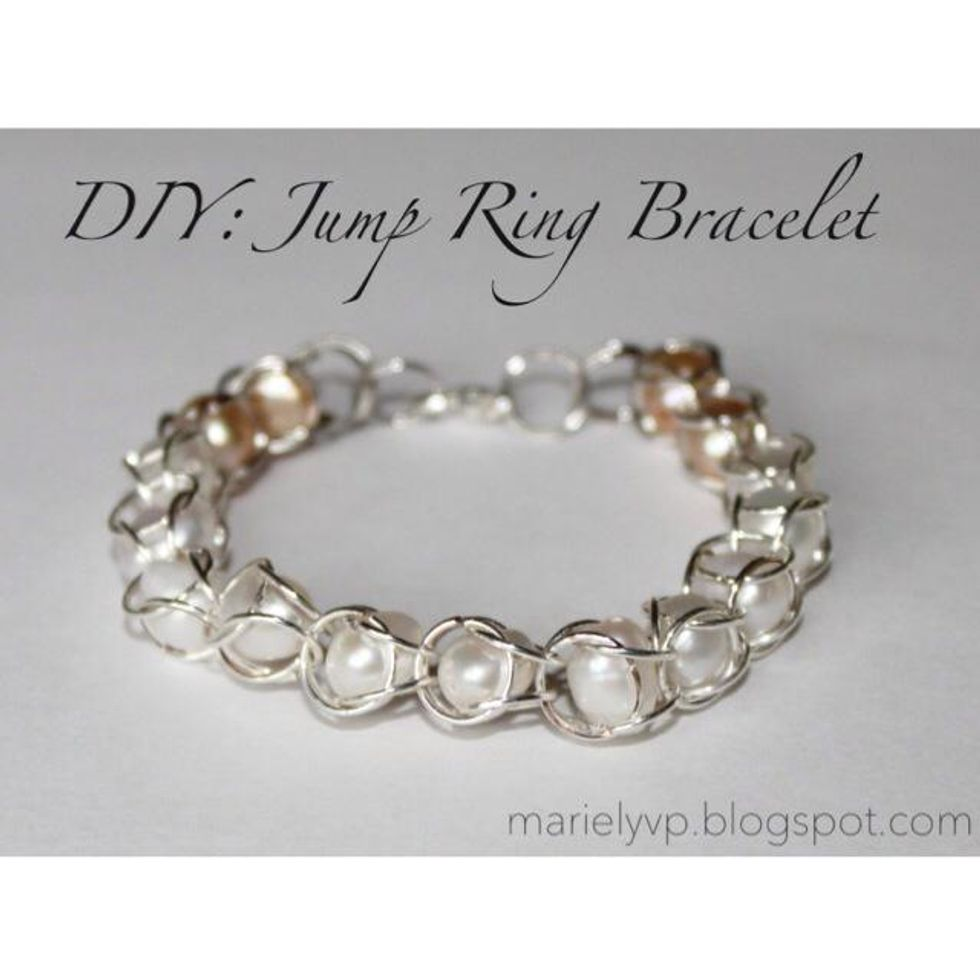How to make a jump ring bracelet